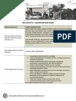Ambit_IIM Calcutta Job Description Form