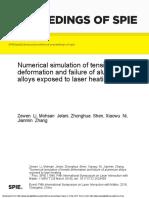 Numerical simulation of tensile deformation and failure of aluminium alloys exposed to laser heating