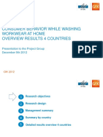 Consumer behaviour while washing workwear at home - Results of GfK study (1)