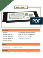 Industrial Computer Keyboard - Membrane