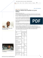 How to reduce tax burden on your salary - Rediff.com Business