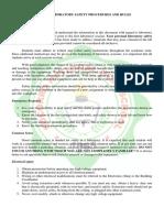 safety procedures in workshop