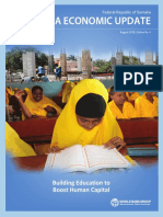 Somalia Economic Update Fourth Edition Building Education to Boost Human Capital
