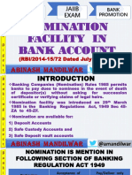Nomination Facility in Bank Account