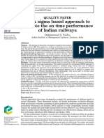 A six sigma based approach to evaluate the on time performance of Indian railways