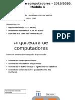 Arquitetura de computadores – 2019