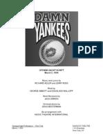Damn Yankees 1994 Revival Script