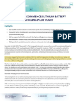 854-Neometals-Commences-Lithium-Battery-Recycling-Pilot-Plant