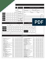 Улучшенный лист персонажа Pathfinder RPG
