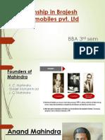 Mahindra presentation