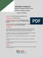 Leadership_Workshop_Bangalore_Announcement