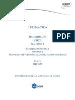 Unidad 3 Tecnicas y Metodologias Avanzadas en Seguridad