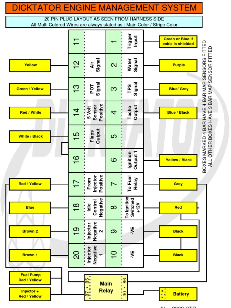 Dicktator Connection Diagrams September 2009 – 4age Wiring Diagram