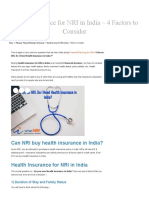 Health Insurance for NRI in India - 4 Factors to Consider WiseNRI