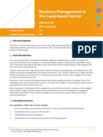 Unit 4 Business Management in the Land Based Sector