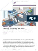 Driving Safely with Automotive Radar Systems