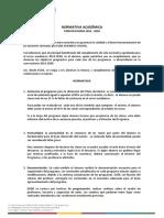 Normativa académica 2019-2020