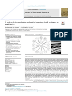 A review of the sustainable methods in imparting shrink resistance to
