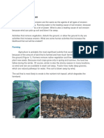 Agents of Soil Erosion