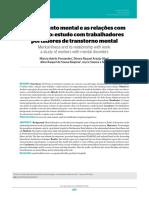 Adoecimento mental e as relações com o trabalho