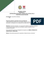 informe avances proyecto estéticas y construcción de tejido ético social