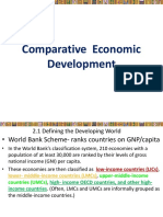 COMPARATIVE ECONOMIC DEVELOPMENT
