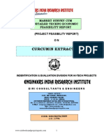 Project Report on Curcumin Extraction