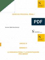LA DENUNCIA PENAL Y LA INVESTIGACIÓN PRELIMINAR UPN
