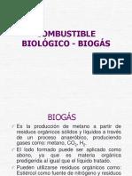 Combustible biogás