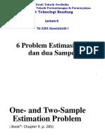 Lecture_6 Problem Estimasi Satu dan Dua Sampel