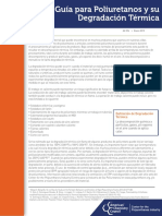 Polyurethane and Thermal Degradation Spanish