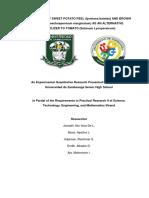 Utilization of Sweet Potato Peel and Brown Algae as an Alternative Fertilizer to Tomato Chapter 1