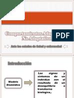 COMPORTAMIENTOS ADAPTATIVOS Y NO ADAPTATIVOS   Cap. No. 7
