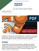 A Tecnologia do Feed RSS para Podcasts - Mundo Podcast
