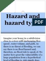 Hazard and hazard types
