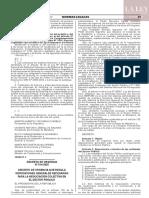 Decreto de Urgencia N° 014-2020
