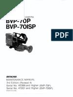 Sony Bvp-70p Bvp-70isp 3rd Edition Rev4 Sm