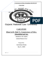 Case Analysis of Administrative Law ( Himmat Lal Shah v Commissioner of Police