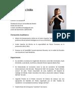 Carmen Vera Trillo CURRÍCULUM ORQUESTAS Junio 2019