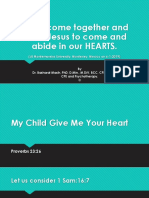 GIVE ME YOUR HEART-SERMON-at montemorelos Univeristy-6-1-19