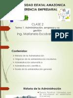 CLASE  2  Origenes de la Adminstracion