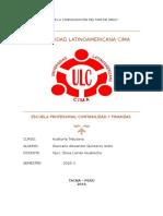 INFORME DE PLANEAMIENTO DE AUDITORIA GLORIA S.A.doc