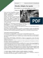 2º Bachillerato. Historia de la Filosofía. Tema 5. Filosofía y Religión. San Agustín