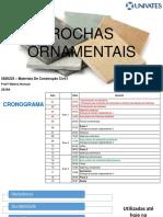 Rochas ornamentais 2019A