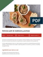 Delicioso Paté de Mejillones y Anchoas - Conservas Albo