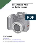 Kodak Easyshare P850 Manual
