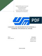 Escasez de efectivo en Venezuela 2014-2018