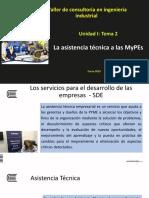 Unidad I tema 2 La asistencia tecnica para las MYPES