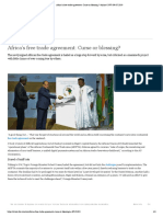 Africa's Free Trade Agreement - Curse or Blessing?