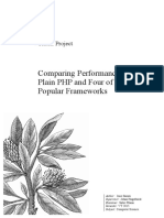 Comparing Performance of Plain PHP and Four of Its Popular Frameworks